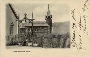 Orkanger kirke postkort