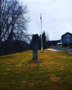 Resyene av kirkegården mot øst